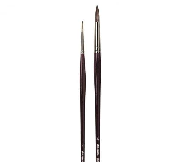 da Vinci GRIGIO Rond Synthetisch Olieverf Acryl Penseel Serie 7795
