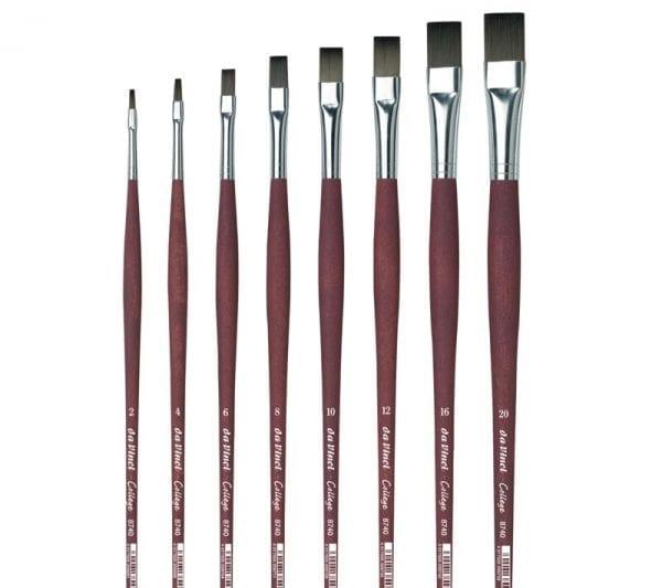 da Vinci COLLEGE Plat Synthetisch Acryl Penseel Serie 8740