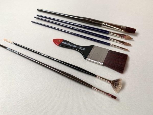 Meesterkopie penselen set atelier training florence studio schilderles cursus olieverf