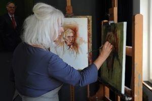 Esther van Tilburg Schilder Cursus Olieverfschilderen Portret