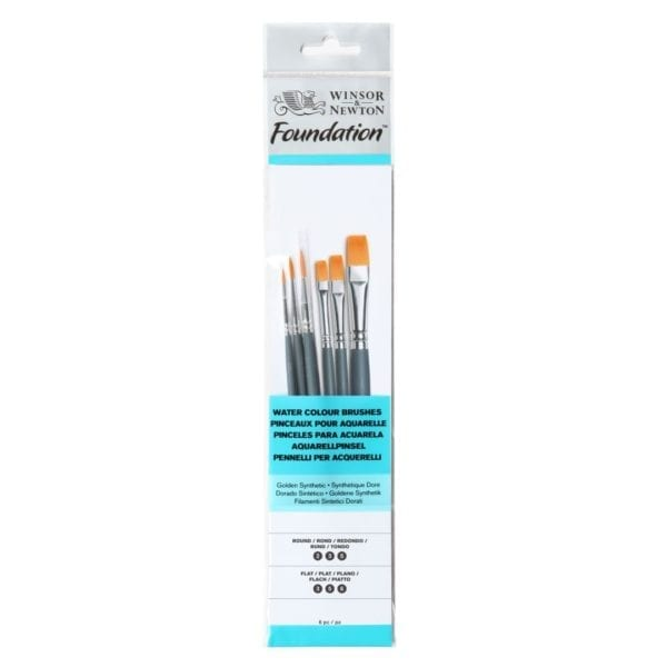 Winsor & Newton Aquarel Foundation Penselen Set Synthetisch Water Colour Penseel Set
